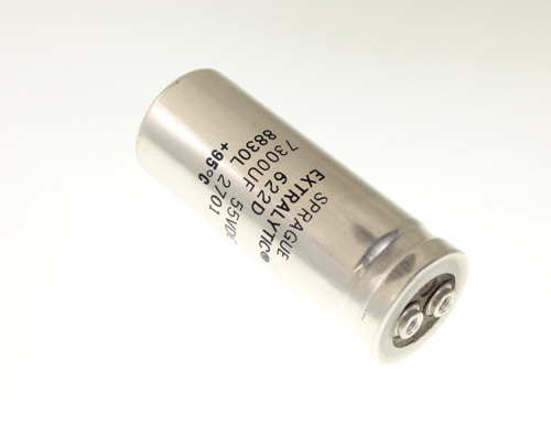 Picture of 622D732M055AB2A SPRAGUE capacitor 7,300uF 55V Aluminum Electrolytic Large Can Computer Grade