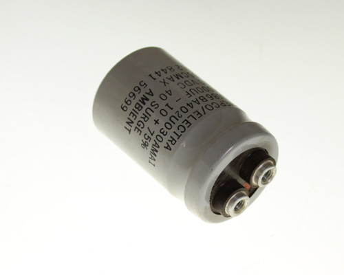 Picture of 3186BA402U030AMA1 PHILIPS capacitor 4,000uF 30V Aluminum Electrolytic Large Can Computer Grade
