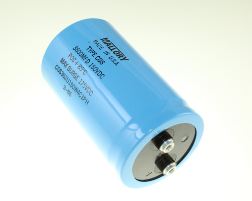 Picture of CGS362U150W4C3PH Mallory capacitor 3,600uF 150V Aluminum Electrolytic Large Can Computer Grade