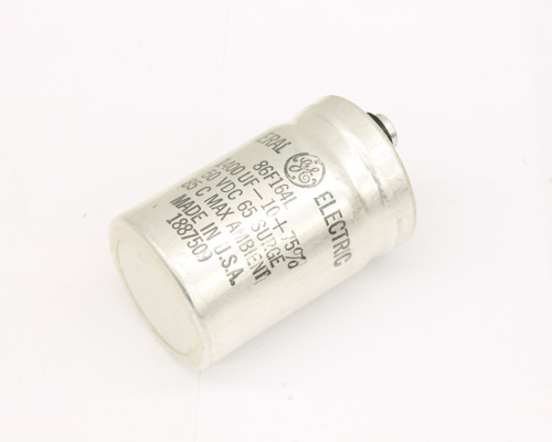 Picture of 86F164L GE capacitor 1,400uF 50V Aluminum Electrolytic Large Can Computer Grade