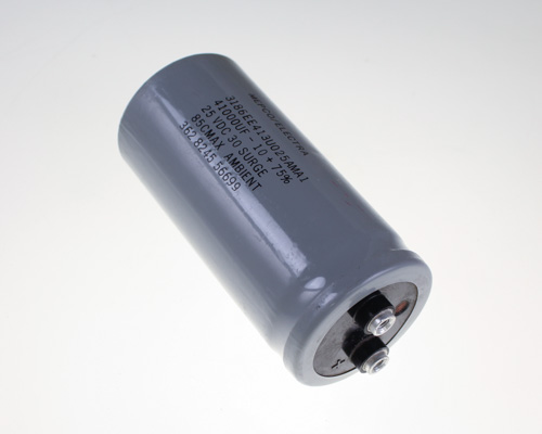 Picture of 3186EE413U025AMA1 Philips capacitor 41,000uF 25V Aluminum Electrolytic Large Can Computer Grade