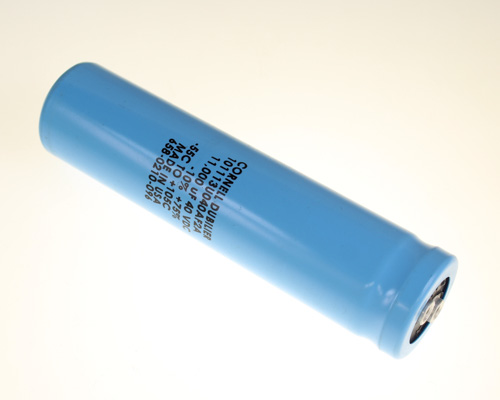 Picture of 101113U040AF2A Cornell Dubilier (CDE) capacitor 11,000uF 40V Aluminum Electrolytic Large Can Computer Grade