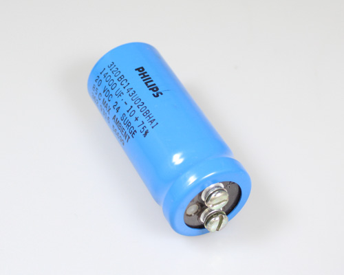 Picture of 3120BC143U020BHA1 PHILIPS capacitor 1,400uF 20V Aluminum Electrolytic Large Can Computer Grade