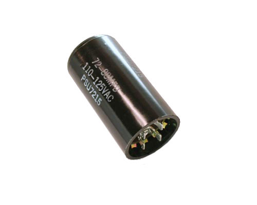 Psu7215 mallory capacitor 72uf 110v application motor for Mallory ac motor starting capacitor