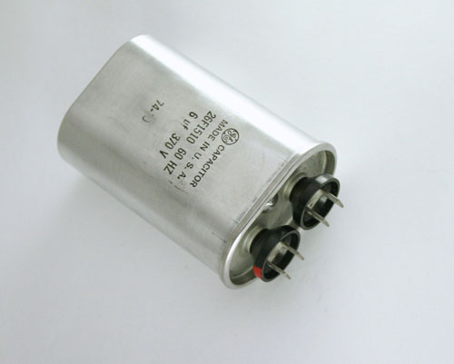 Picture of 26F1510 GENERAL ELECTRIC capacitor 6uF 370V Application Motor Run