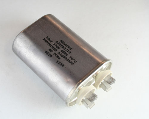 Picture of 32FD3710 MALLORY capacitor 10uF 370V Application Motor Run