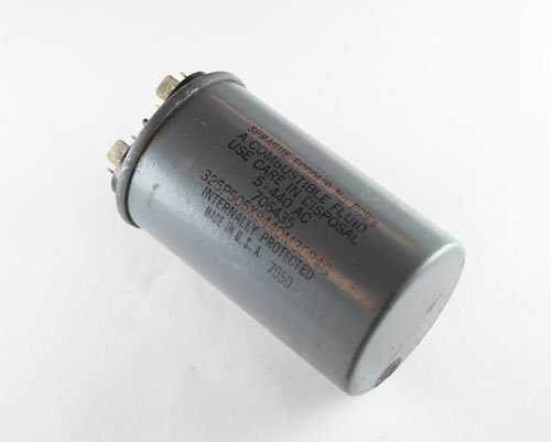 Picture of 325P505X9440M30P4G SPRAGUE capacitor 5uF 440V Application Motor Run