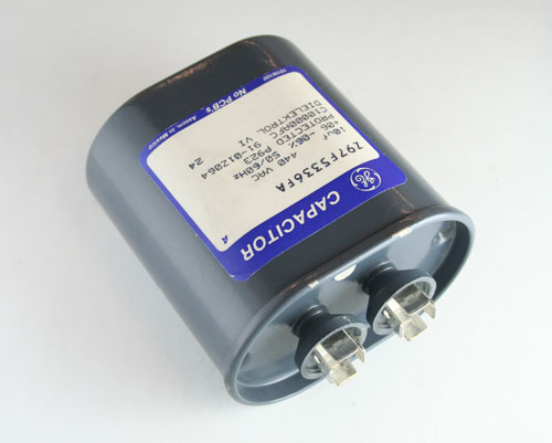 Picture of Z97F5336FA GENERAL ELECTRIC capacitor 10uF 440V Application Motor Run