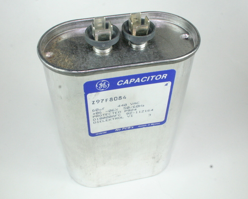 Picture of Z97F8084 GENERAL ELECTRIC capacitor 60uF 440V Application Motor Run