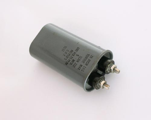 Picture of SCRN222 Cornell Dubilier (CDE) capacitor 5uF 600V Application Motor Run