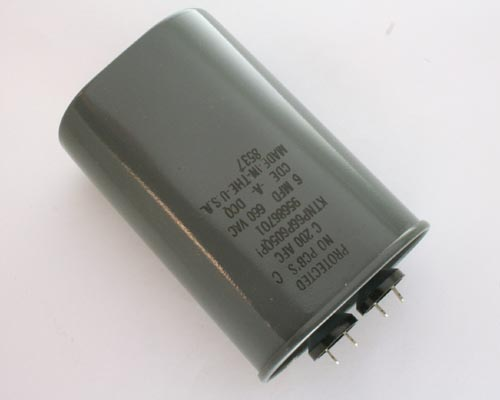 Picture of KTNP66P605QP1 CDE capacitor 6uF 660V Application Motor Run