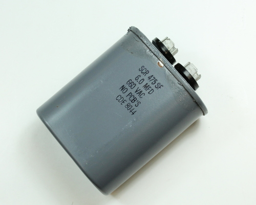 Picture of SCR475SF CDE capacitor 6uF 660V Application Motor Run