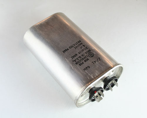 Picture of 21L6018 GENERAL ELECTRIC capacitor 6uF 660V Application Motor Run