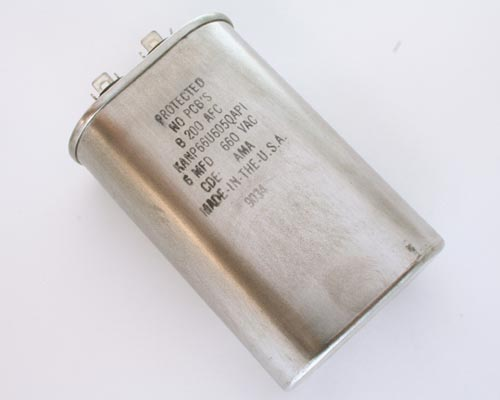 Picture of KANP66U605QAP1 CDE capacitor 6uF 660V Application Motor Run