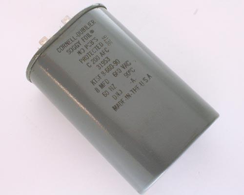 Picture of KTSF66U806QAP1 CDE capacitor 8uF 660V Application Motor Run
