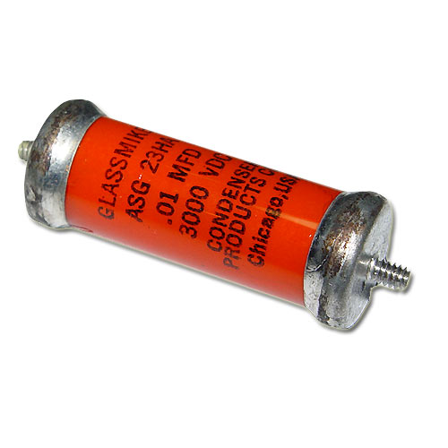 Picture of ASG23HA GLASSMIKE capacitor 0.01uF 3000V Glass Axial