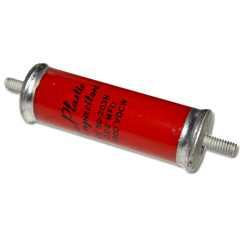 Picture of OF50-203N PLASTIC CAPACITORS capacitor 0.02uF 5000V OIL Hermetically Sealed Axial