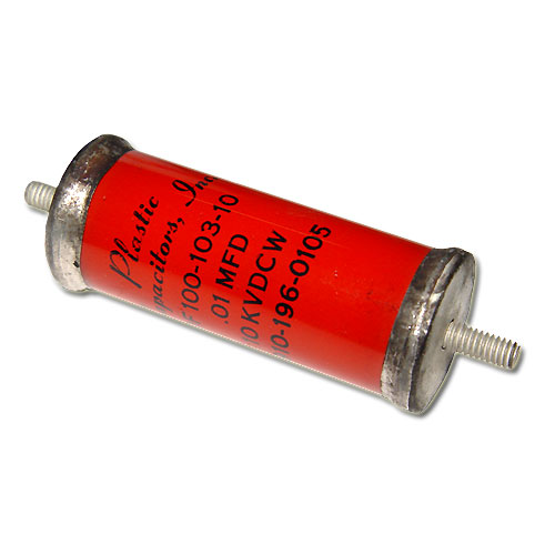 Picture of OF100-103-10 PLASTIC CAPACITORS capacitor 0.01uF 10000V Glass Axial