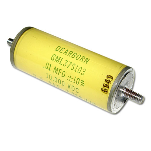 Picture of GML37S103M DEARBORN capacitor 0.01uF 10000V Glass Axial