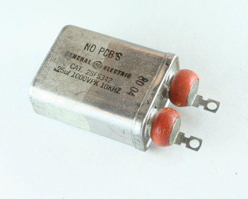 A sample picture of Radial Oil Filled Capacitor.