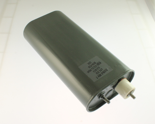 Picture of LPC212 CDE capacitor 8uF 4000V OIL HERMETICALLY SEALED Radial