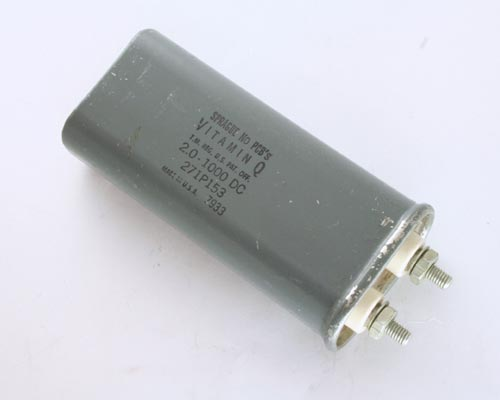 Picture of 271P153 SPRAGUE capacitor 2uF 1000V Application Motor Run