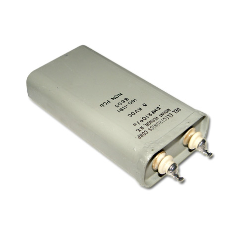 Picture of 160-1191 DEL ELECTRONICS capacitor 0.5uF 5000V OIL HERMETICALLY SEALED Radial