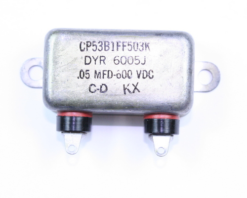 Picture of CP53B1FF503K CDE capacitor 0.05uF 600V Oil Hermetically Sealed Radial