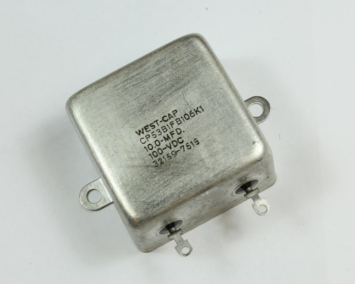 Picture of CP53B1FB106K1 SFE / WESTCAP capacitor 10uF 100V Oil Hermetically Sealed Radial