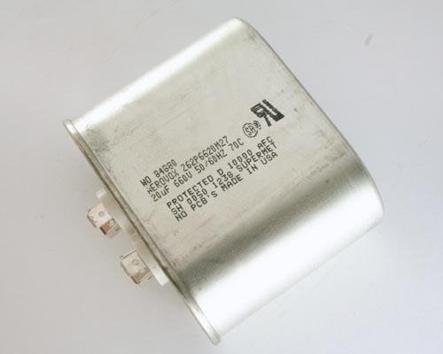 Picture of Z62P6620M27 AEROVOX capacitor 20uF 660V Application Motor Run
