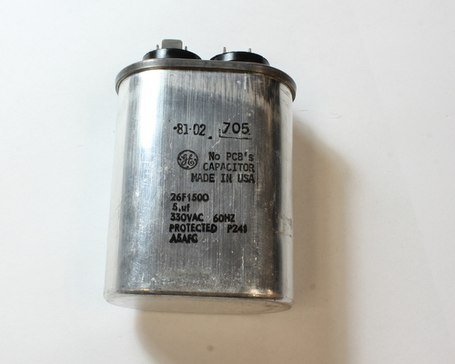 Picture of 26F1500 GENERAL ELECTRIC capacitor 5uF 330V Application Motor Run