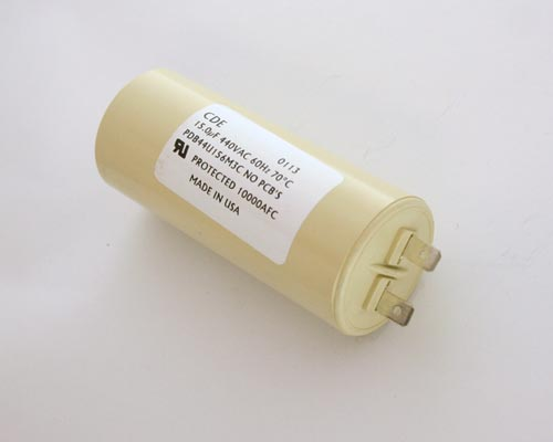 Picture of PDB44U156M3C Cornell Dubilier (CDE) capacitor 15uF 440V Application Motor Run