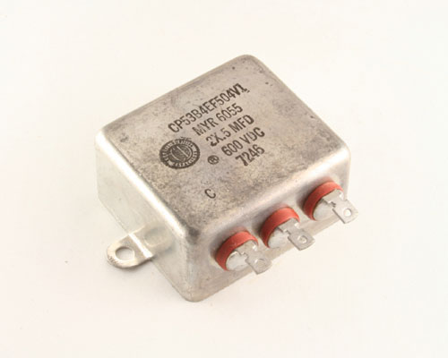 Picture of CP53B4EF504V1 CDE capacitor 0.5uF 600V Oil Hermetically Sealed Radial