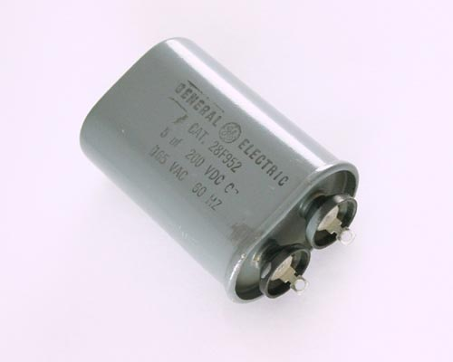 Picture of 28F952 GENERAL ELECTRIC capacitor 5uF 200V Application Motor Run