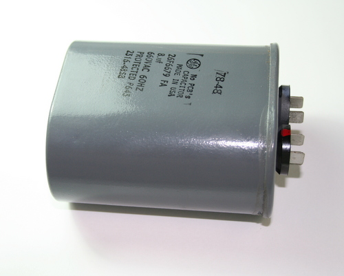 Picture of 26F6679FA GE capacitor 8uF 660V Application Motor Run