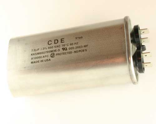 Picture of KKSM66U705M3E-3 CDE capacitor 7uF 660V Application Motor Run