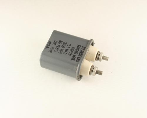 Picture of T20P1N Cornell Dubilier (CDE) capacitor 0.1uF 2000V OIL HERMETICALLY SEALED Radial