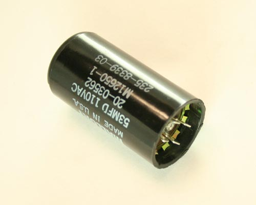 Picture of 20-03562 MALLORY capacitor 53uF 110V Application Motor Start
