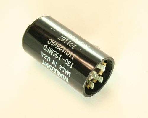 Picture of 101167 MALLORY capacitor 130uF 110V Application Motor Start