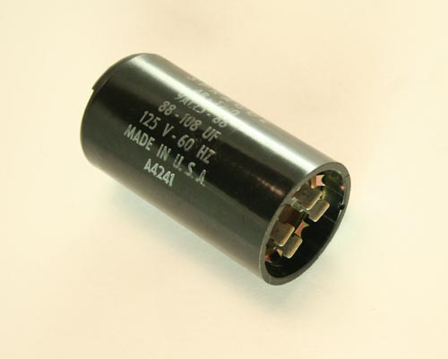 Picture of AB-1210 SPRAGUE capacitor 88uF 125V Application Motor Start