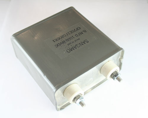 Picture of CP70E1FG805K1 SANGAMO capacitor 8uF 1000V Oil Hermetically Sealed Radial