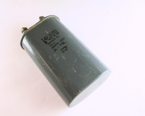 Picture of 26F6823FC GENERAL ELECTRIC capacitor 10uF 600V Oil Hermetically Sealed Radial