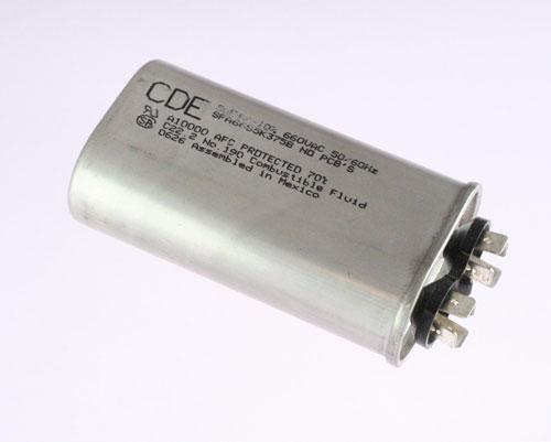 Picture of SFA66S5K375B Cornell Dubilier (CDE) capacitor 5uF 660V Application Motor Run