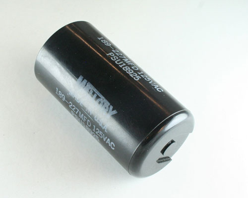 Picture of PSU18925 MALLORY capacitor 189uF 125V Application Motor Start