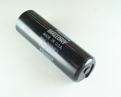 Psu23315 mallory capacitor 233uf 110v application motor for Mallory ac motor starting capacitor