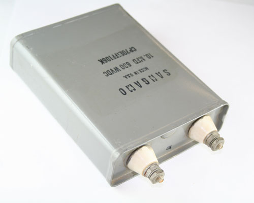 Picture of CP70E1FF106K SANGAMO capacitor 10uF 600V Oil Hermetically Sealed Radial