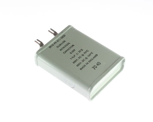 Picture of 5910-99-011-2823 CORNELL DUBILIER (CDE) capacitor 1uF 600V Oil Hermetically Sealed Radial