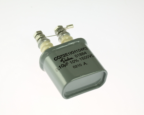 Picture of CQ72E1KH104K3 DEARBORN ELECTRONICS capacitor 0.1uF 1500V Oil Hermetically Sealed Radial