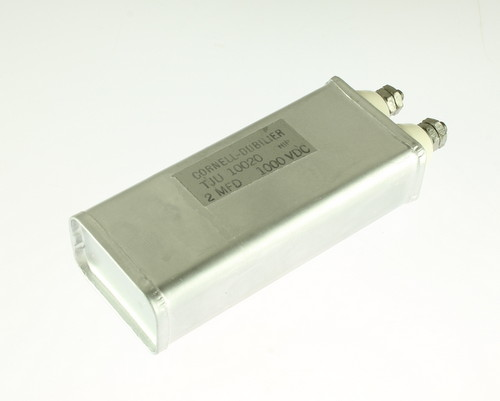 Picture of TJU-10020 Cornell Dubilier (CDE) capacitor 2uF 1000V OIL Hermetically Sealed Radial