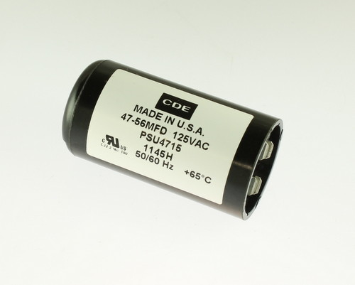 Picture of PSU4715 CDE capacitor 47uF 125V Application Motor Start